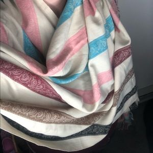 Oversized Blue Pink Maroon Cream Wrap/Scarf